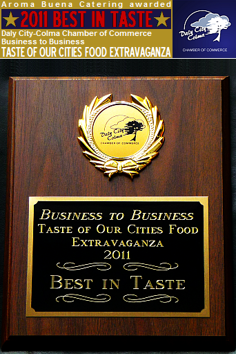 Aroma Buena Catering is honored to have been voted the 