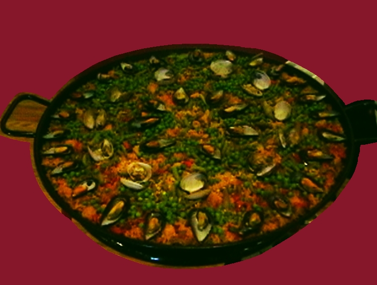 ¡ Paella ! -- One of our delicious Hispano World Cuisine offerings.