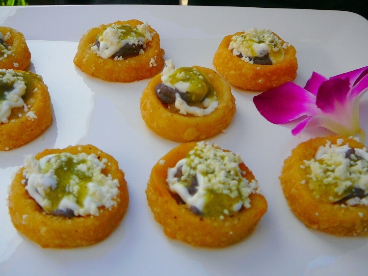 Photo: Mexico - Mini Sopes.   [You can click here to go to the Photos page.]  San Francisco Catering -  AROMA BUENA CATERING - Hispano World Cuisine www.AromaBuena.com