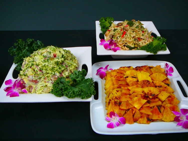 Photo: Grilled Pineapple, Potato Salad, Pasta Salad