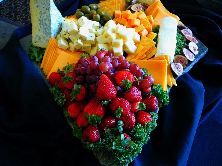 Photo: Cheese and Fruit Tray.
