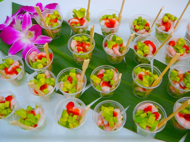Photo: Coctel de Camarón - Shrimp Cocktail with Avocado.